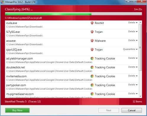 HitmanPro обнаруживает вирусы Antivirus Security Pro