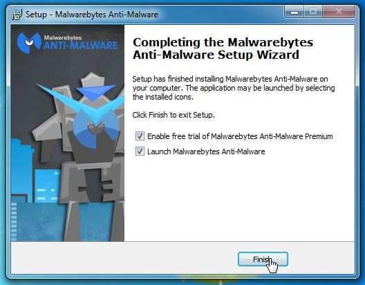 [Изображение: окончательный экран настройки Malwarebytes Anti-Malware]